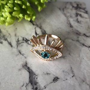 Evil Eye Rhinestone Ring